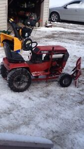Toro wheel horse with Plow (ready to plow)