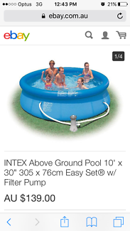 Intex, Easy Set, 10ft pool with filter