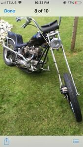 1972 triumph bonneville  chopper