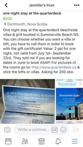 One night stay at the quarterdeck