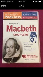 Macbeth podcast study guide Bellbowrie Brisbane North West Preview