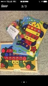 Melisssa doug sort and snap pegs board toy Montessori baby