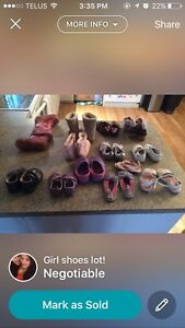 Girls shoes lot  Edmonton Edmonton Area image 1