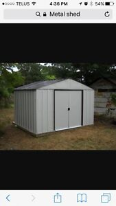 Looking for free metal shed