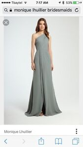 Monique Lhuillier bridesmaid gown