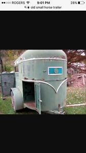 Old small horse trailers wanted