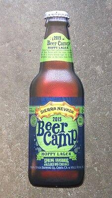 """Sierra Nevada 2015 Beer Camp Hoppy Lager 18"""" Bottle Shaped Tin Sign. Bar Sign"""
