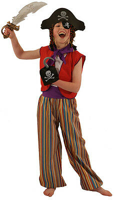 Peter Pan-World Book Day-Panto-Shows STRIPE PIRATE Fancy Dress Costume All Ages