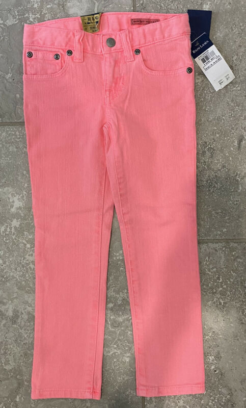 Ralph Lauren Toddler Girls Bowery Skinny Jeans Light Pink Sz 4/4T - NWT