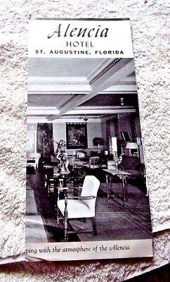 VINTAGE  PAMPHLET ALENCIA HOTEL ST. AUGUSTINE FLORIDA
