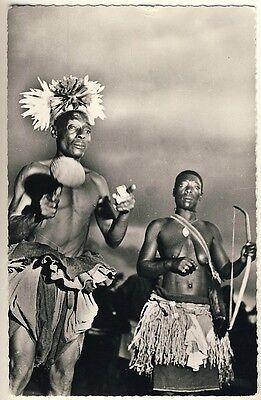 CONGO DANCING COUPLE TANZENDES PAAR VINTAGE 50S ETHNIC NUDE PHOTO PC