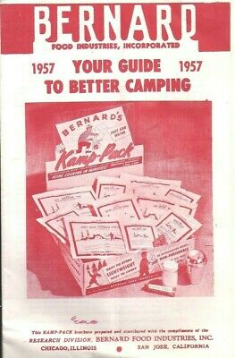 VINTAGE Bernard Food Industries 1957 Guide Better Camping Brochure