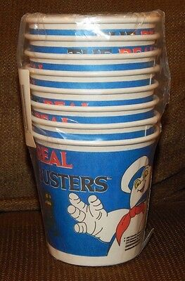 1984 The Real Ghostbusters Party Cups MINT IN PACKAGE FREE SHIPPING