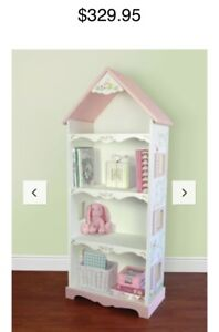 Gorgeous Handpainted Cottage Bookshelf