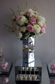 Centrepiece hire vases with light up sticks party hire gumtree mirrored vases for centrepieces hire adelaide cbd junglespirit Images