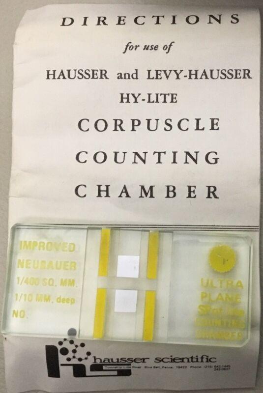 Neubauer Hausser Ultra Plane SPot Corpuscle Counting Chamber 1/10 mm D 1/400 SQ