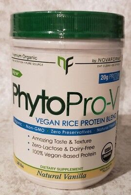 NOVAFORME PhytoPRO-V Vegan Rice Protein Blend - Natural Vanilla  1.28 lbs 1/2020 ()
