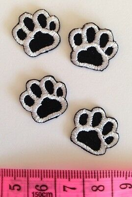 PUPPY DOG (LOT OF 4)CAT ANIMAL PAW PRINT Sew/ Iron DIY Patch Motif Pet Clothes