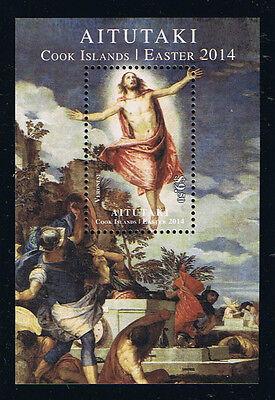 Aitutaki 2014 Easter Postage Stamp Souvenir Sheet Issue