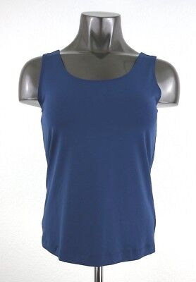NEW CHICO'S Women's Microfiber Contemporary Crew Neck Tank Colonial Blue Size 0 - Colonial Clothing For Women
