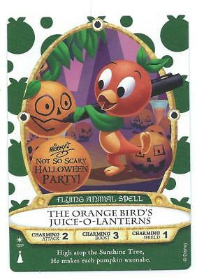 New 2018 Sorcerers of The Magic Kingdom Orange Birds Halloween Party Card P13