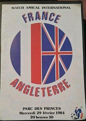France v England Programme 29/02/84