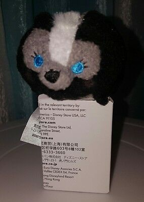 """Disney Store Tsum Tsum Mini 3.5"""" FLOWER from THE BAMBI COLLECTION"""