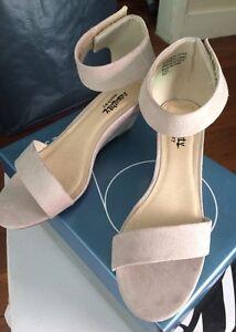 Ladies nude colour wedge heels size 7 Mount Gravatt East Brisbane South East Preview