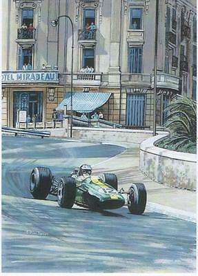 Jim Clark Monaco GP 1967 art print