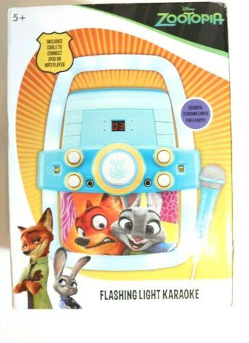 Disney ZOOTOPIA Flashing Light Karaoke Machine Music Set