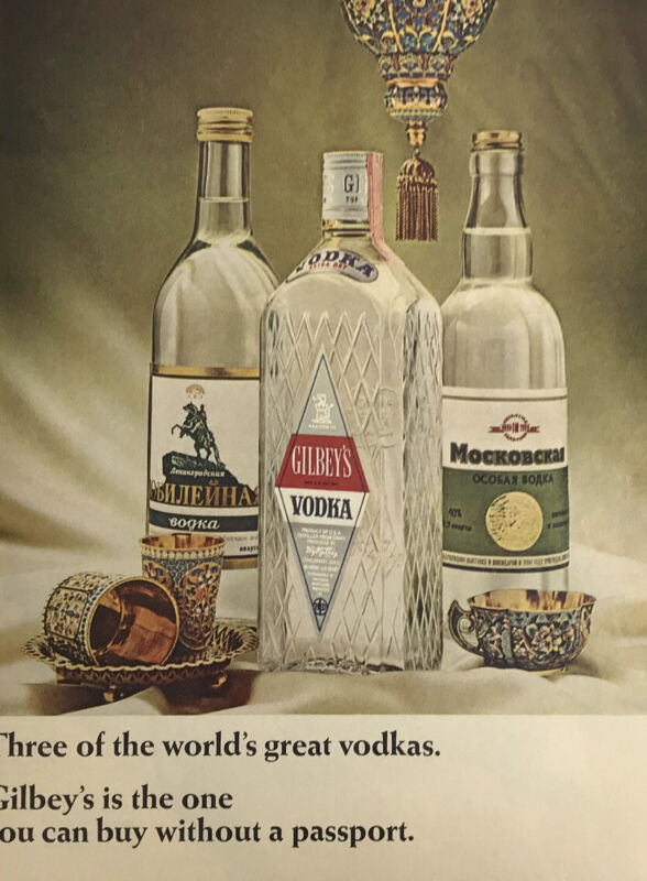 Gilbeys Gin Magazine Print Ad Vintage Liquor Alcohol Drink Cocktails Ovchinnikov