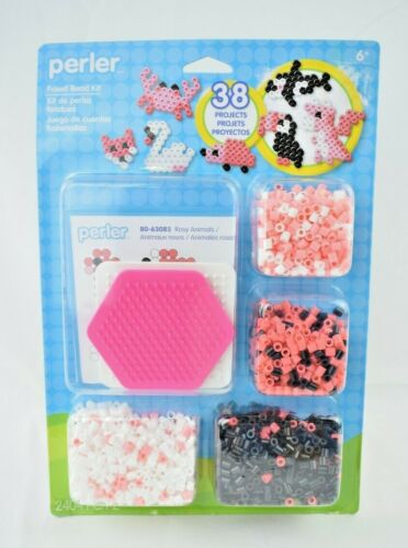 Perler - Rosy Animals Kit - 2404 Pieces - Fused Bead Kit - 38 Projects (New)