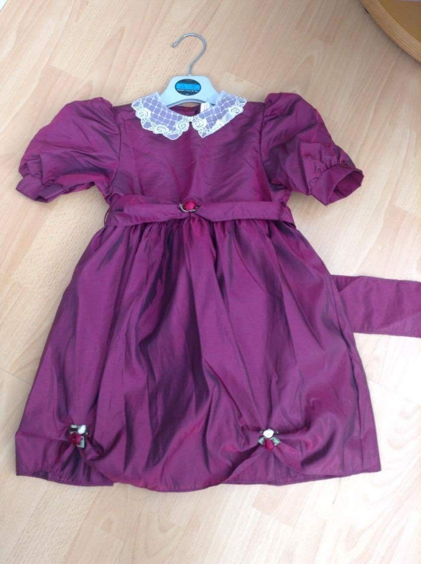 Girls burgundy dress BHS age 2-3 years NEW WITH TAGS ATTACHED