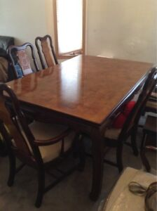 Chinese Style Dining Table Set And China Cabinet