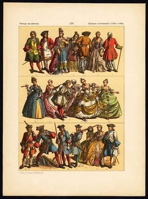 Antique Print-MODERN ERA-WESTERN EUROPE-18th CENTURY-Pl. 116-Hottenroth-1884