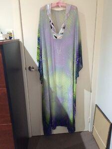 Beautiful watercolour maxi dress kaftan with slip Macquarie Park Ryde Area Preview