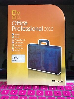 Microsoft Office Professional 2010 32 64 Retail Full Version Dvd 2 Pcs