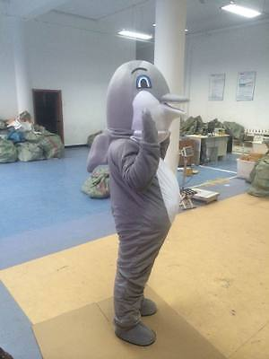 Dolphin Mascot Costume Party Game Style Beautiful Fancy Dress Adult Fashion Grey