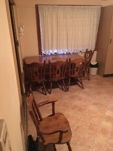 Solid timber 7 piece dinning setting Revesby Bankstown Area Preview