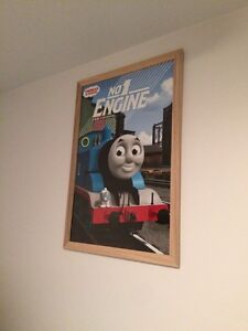 Thomas the tank engine framed poster Glenfield Campbelltown Area Preview