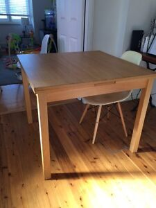 IKEA Solid wood extendable table. Croydon Burwood Area Preview