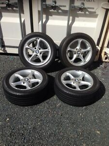 "Genuine BMW 16"" 5-spoke alloy wheels w/ Bridgestone RFT $599ono Wollongong Wollongong Area Preview"