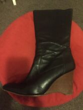 ITALIAN - VINTAGE LEATHER BOOTS Kooyong Stonnington Area Preview