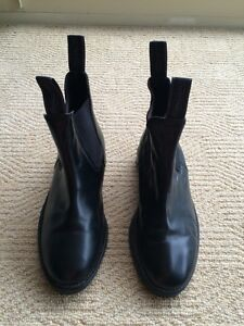 RHINEGOLD CLASSIC Black Leather Riding Boots - Size UK 4 Black Rock Bayside Area Preview
