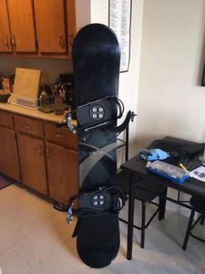 K2 snowboard, bindings, boots and goggles