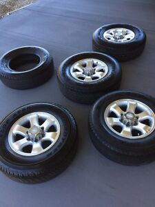 """6 stud 4wd 4x4 wheel, trailer wheels and tyres 16 inch 16"""" tyres Mount Crosby Brisbane North West Preview"""