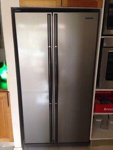 Stainless steel double door fridge freezer Campbelltown Campbelltown Area Preview
