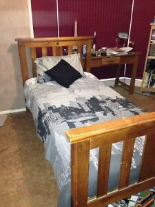 Timber Federation Style Single Bed (Includes brand new mattress) Singleton Singleton Area Preview