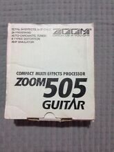 Zoom 505 Guitar Effects Unit Royalla Queanbeyan Area Preview