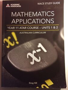 MATHEMATICS APPLICATIONS YEAR 11 ATAR COURSE - UNITS 1 & 2 Ellenbrook Swan Area Preview